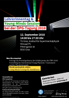 "Flyer LehrerInnentag & ""Young Minds""-Session"