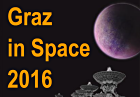 Graz in Space 2016; Bild: VLA: © National Science Foundation; Exoplanet: © IWF/Manuel Scherf