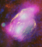 Überreste der W44 Supernova (Foto: NASA/DOE/Fermi LAT Collaboration, ROSAT, JPL-Caltech, and NRAO/AUI)